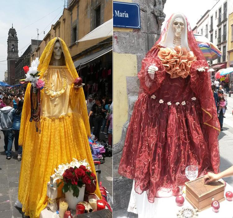 Santa Muerte nas ruas da Cidade do México
