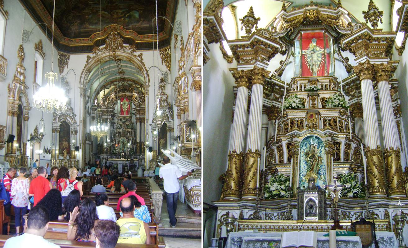 Detalhes do interior da igreja
