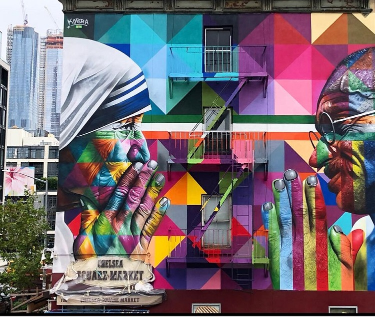 mural-kobra-nova-york-madre-tereza-gandhi
